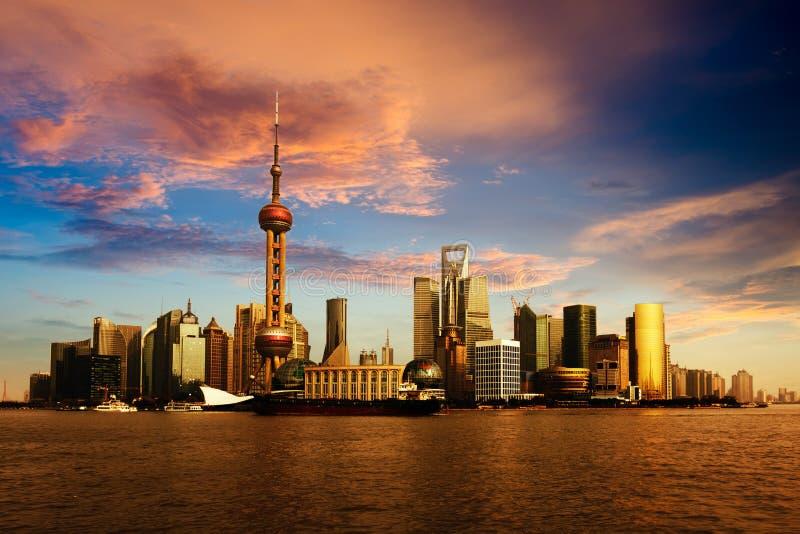 Panorama di Shanghai immagine stock