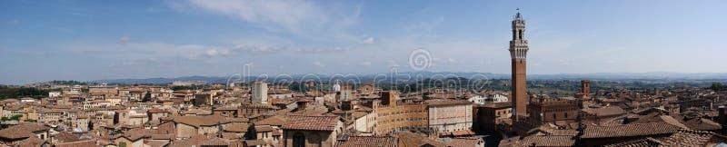 Panorama di Siena immagini stock
