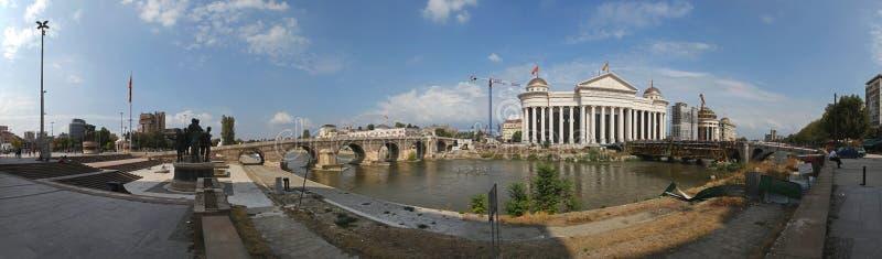 Panorama di Skopje fotografie stock libere da diritti