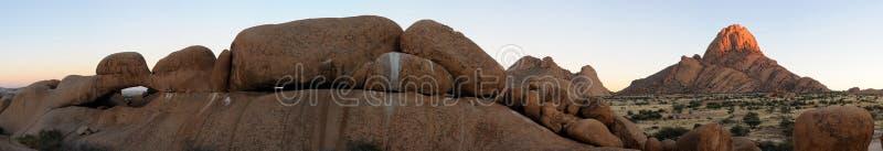 Panorama di Spitzkoppe, Namibia immagine stock