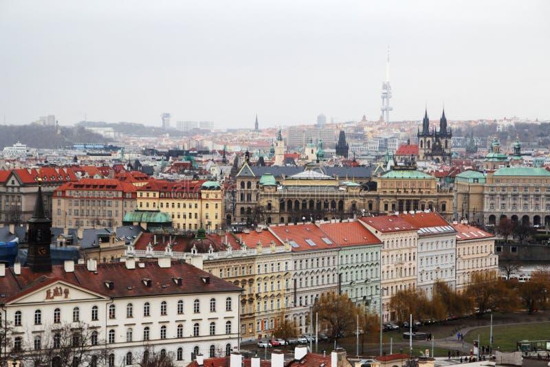 Panorama di Stare Mesto fotografia stock libera da diritti
