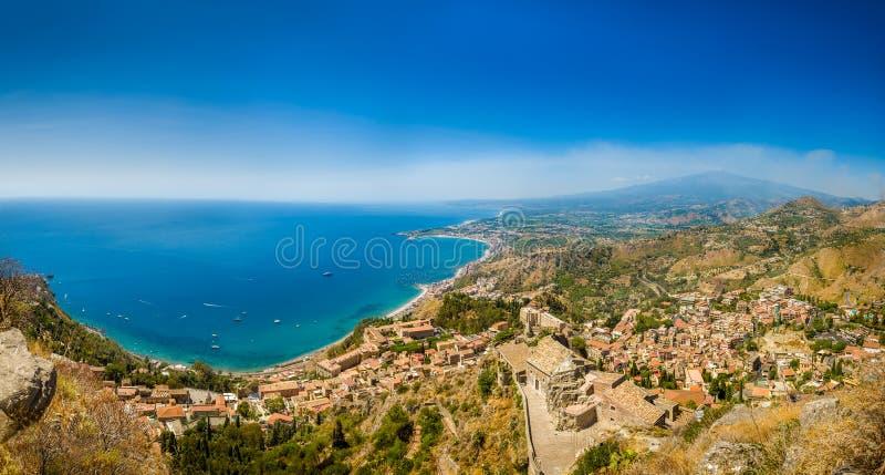 Panorama di Taormina immagini stock libere da diritti