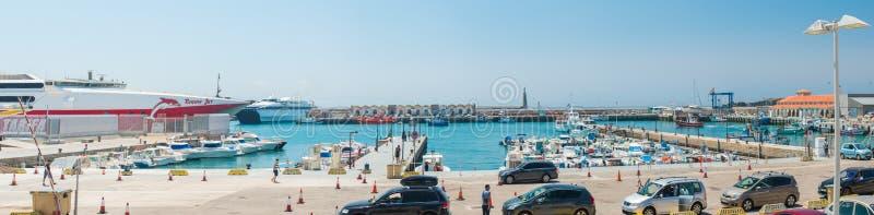 Panorama di Tarifa fotografia stock