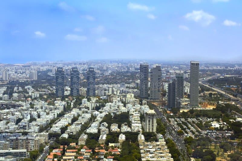Panorama di Tel Aviv, Israele fotografia stock libera da diritti