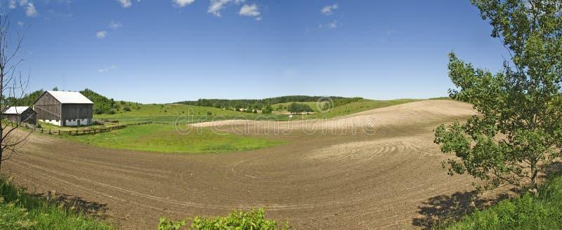 Panorama di terreno coltivabile fotografia stock