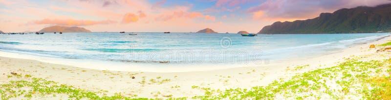 Panorama di tramonto fotografia stock