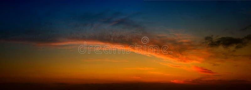 Panorama di tramonto fotografie stock libere da diritti