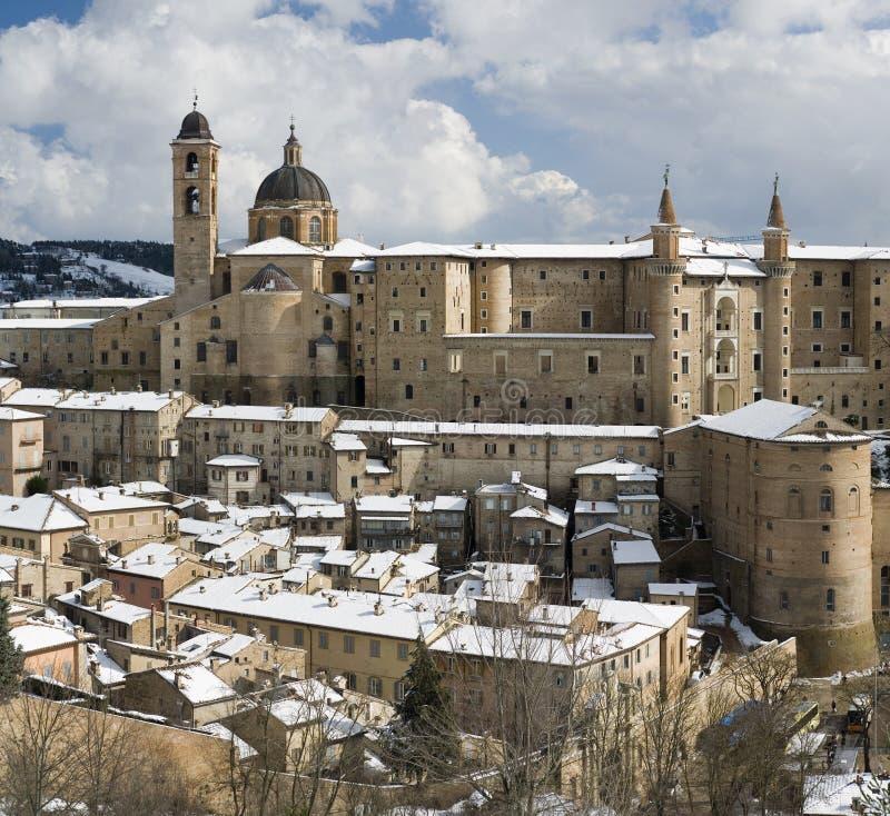 Panorama di Urbino fotografie stock