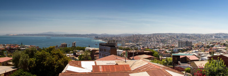 Panorama di Valparaiso immagini stock libere da diritti
