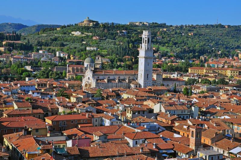 Panorama di Verona fotografie stock
