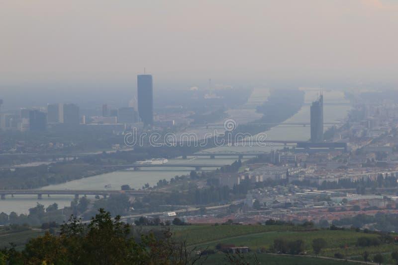 Panorama di Vienna, Austria fotografia stock