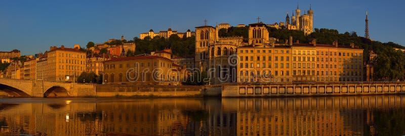 Panorama di Vieux Lione fotografie stock