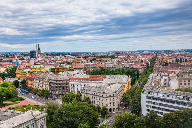 Panorama di Zagabria immagini stock libere da diritti