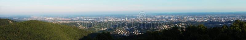 Panorama di Zagabria fotografia stock libera da diritti