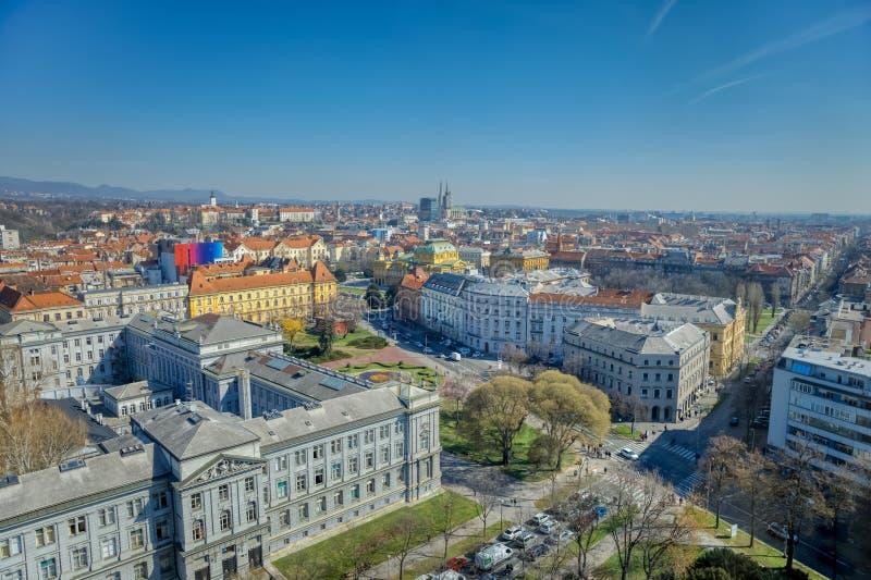 Panorama di Zagabria fotografia stock