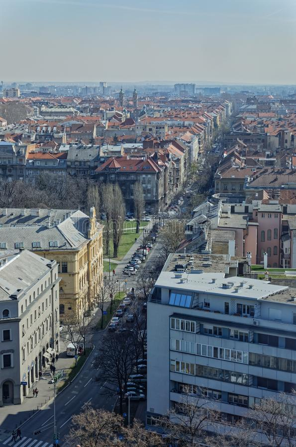 Panorama di Zagabria immagine stock libera da diritti