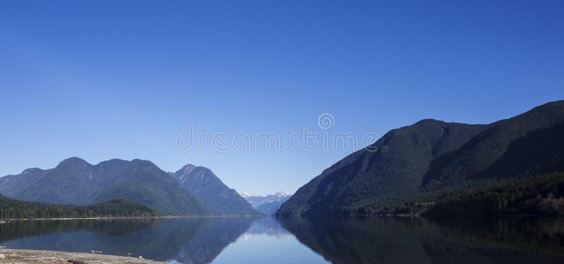 Panorama disparado do lago entre montanhas imagem de stock