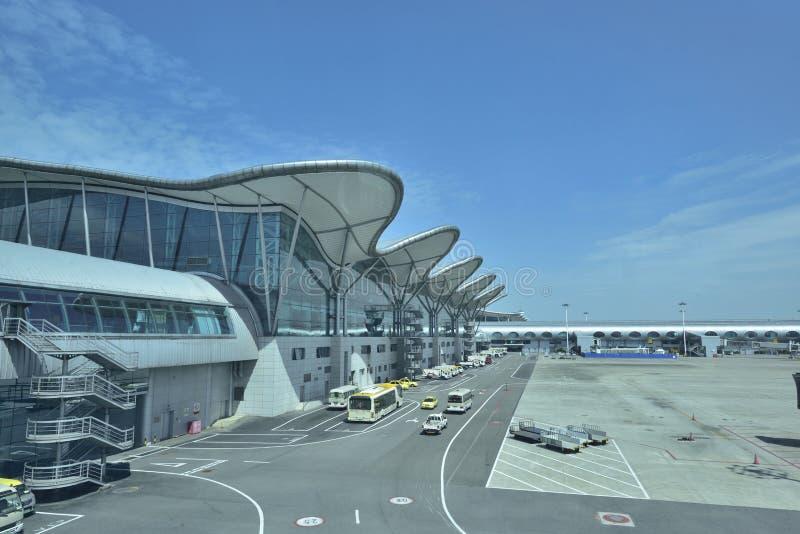 Panorama do aeroporto de Chongqing! foto de stock