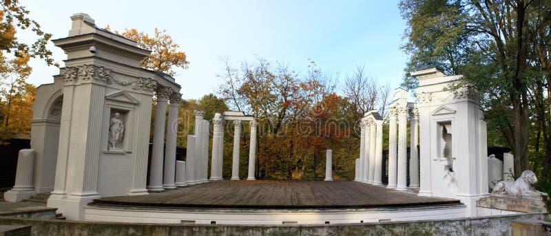 Panorama do amphitheater antigo fotografia de stock