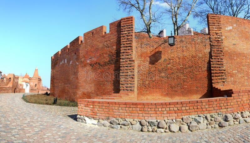 Panorama do Barbican em Varsóvia imagens de stock