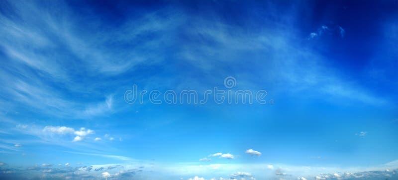 Panorama do céu da noite. fotografia de stock