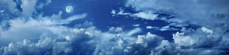 Panorama do céu nocturno com estrelas ilustração do vetor