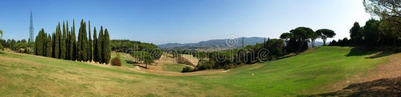 Panorama do campo de golfe fotos de stock