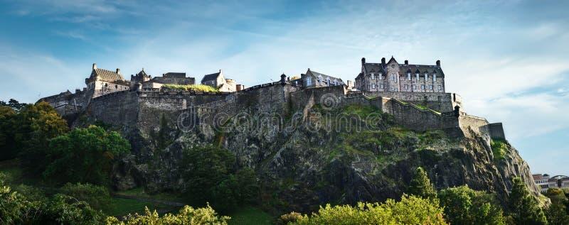 Panorama do castelo de Edimburgo foto de stock royalty free