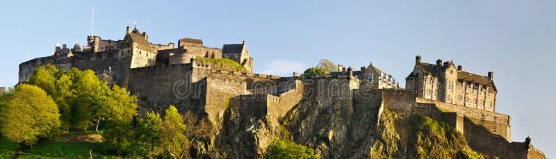 Panorama do castelo de Edimburgo, Scotland imagens de stock