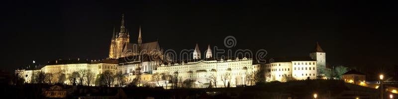Panorama do castelo de Praga imagem de stock