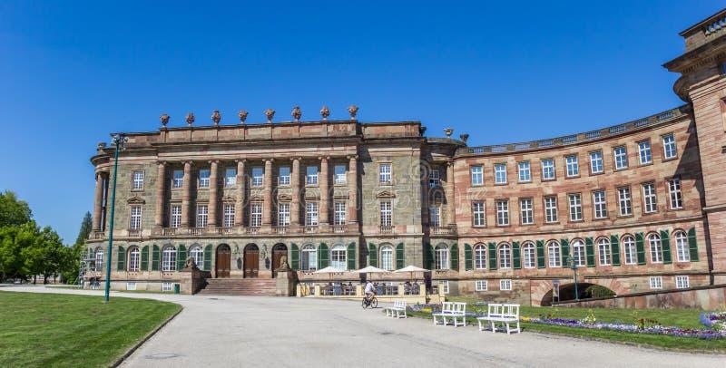 Panorama do castelo histórico de Wilhelmshohe em Kassel imagem de stock