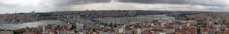 Panorama do centro da cidade de Istambul fotos de stock