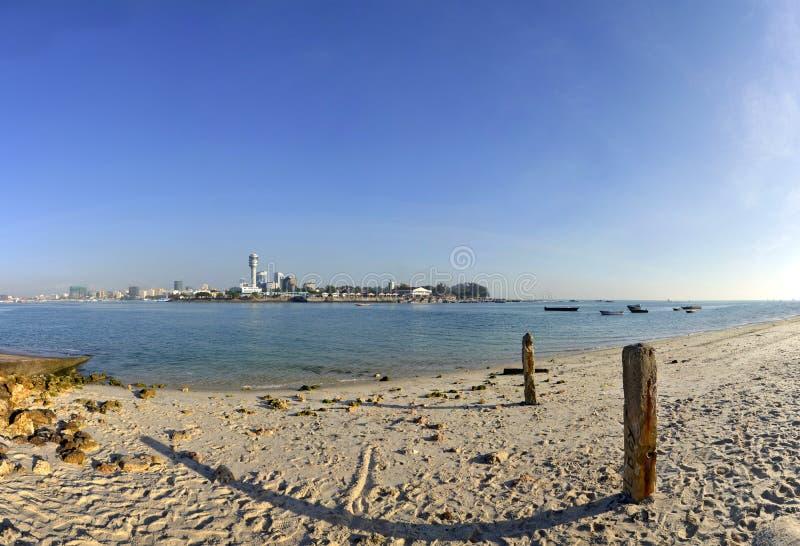 Panorama do centro de cidade de Dar es Salaam fotos de stock