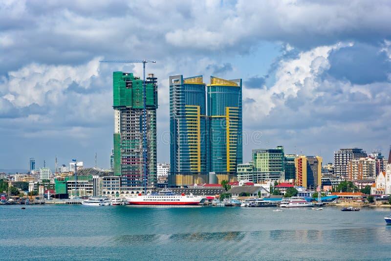 Panorama do centro de cidade de Dar es Salaam imagem de stock royalty free