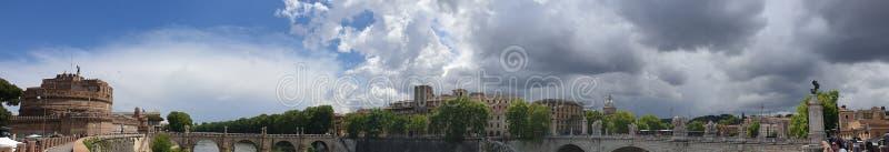 Panorama do centro de Roma imagens de stock
