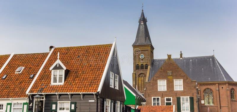 Panorama do centro histórico de Marken imagens de stock royalty free