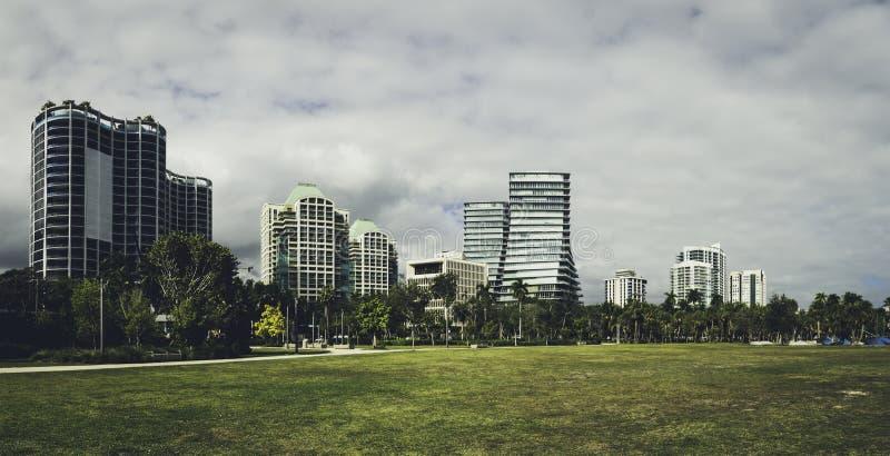 Panorama do Coconut Grove em Miami imagem de stock royalty free