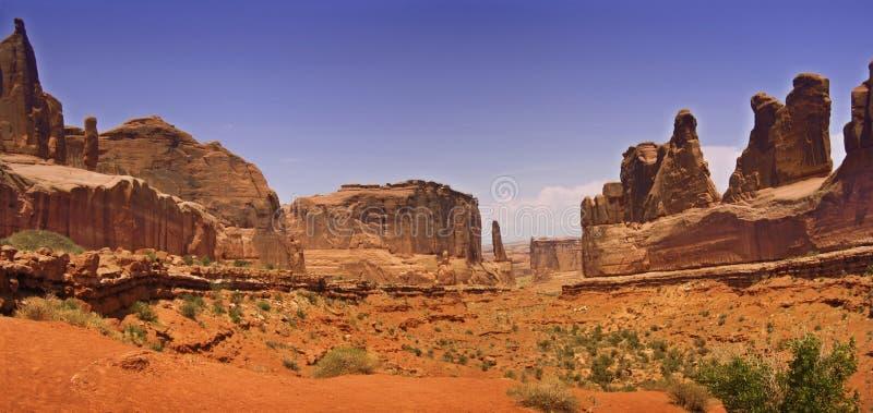Panorama do deserto fotografia de stock