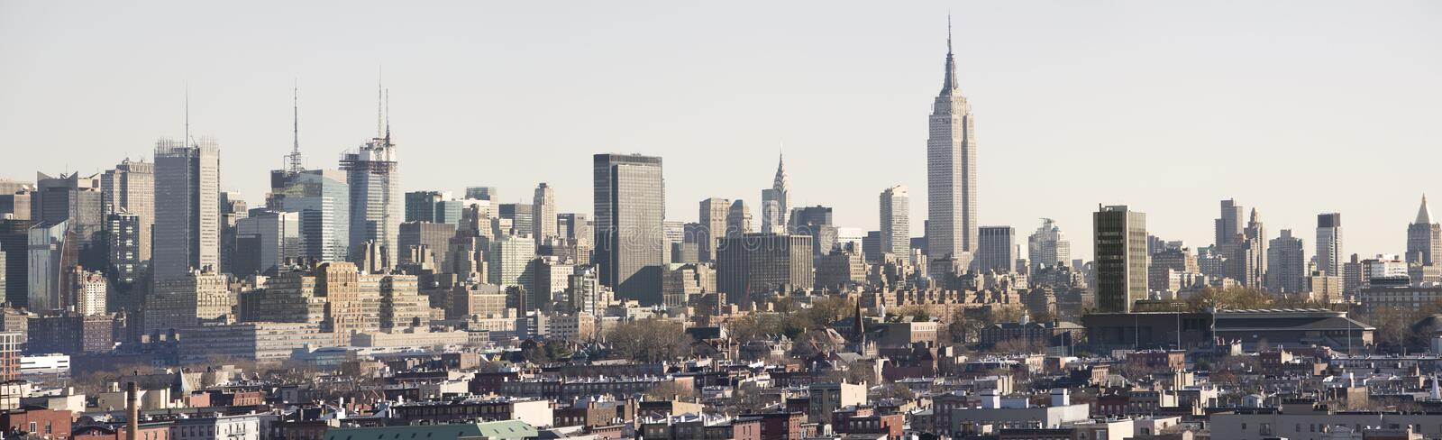 Panorama do dia de Manhattan fotos de stock royalty free