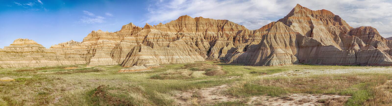 Panorama do ermo de South Dakota imagem de stock