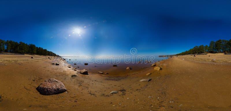 Panorama do Golfo da Finlândia fotografia de stock royalty free