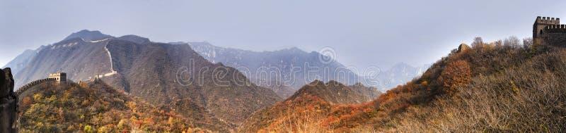Panorama do Grande Muralha 6 da NC imagem de stock royalty free