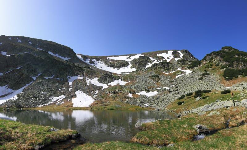 Panorama do lago mountain imagem de stock