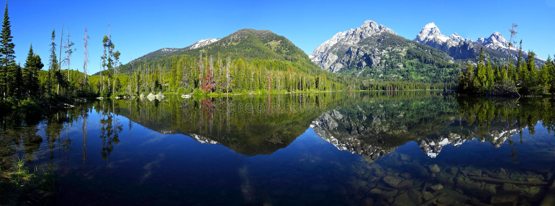 Panorama do lago Taggart foto de stock