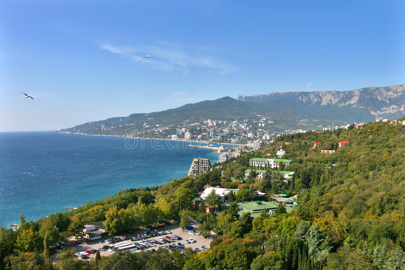 Panorama do louro de Yalta fotografia de stock