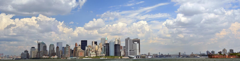 Panorama Do Lower Manhattan Imagens de Stock