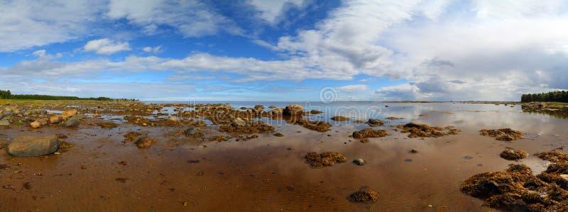 Panorama do mar branco do norte fotografia de stock