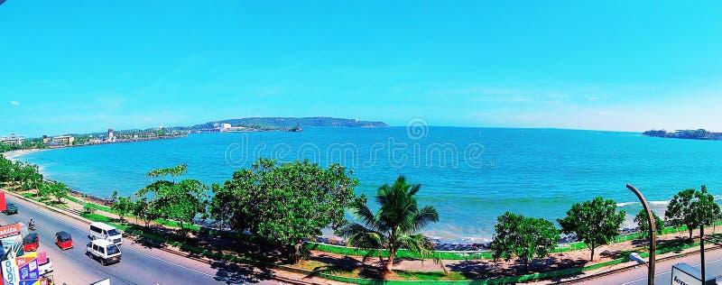 Panorama do mar de Galle fotos de stock royalty free