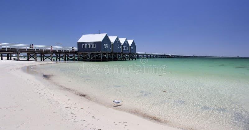 Panorama do molhe Austrália ocidental de Busselton imagem de stock