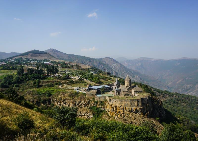Panorama do monastério de Tatev fotografia de stock royalty free